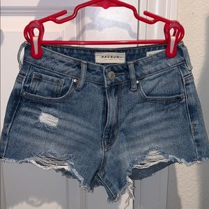 PacSun Light Wash High Rise Denim Shorts